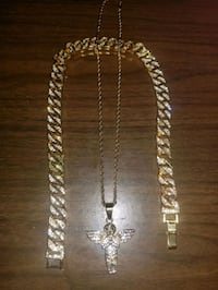 NEGO / 10k Gold Plated Cuban Link + Rope chain & Pendant Montreal, H3C