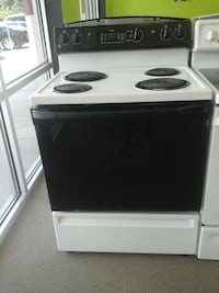 black and white GE electric coil range oven Clayton, 27520