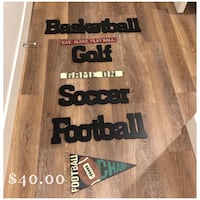 Sports wall decor Lubbock, 79424