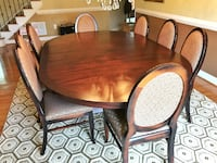 Arhaus Solid Wood Dining Table and 8 Chairs CHANTILLY