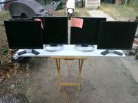 2 Pairs of matching Dell 20 inch LCD monitors