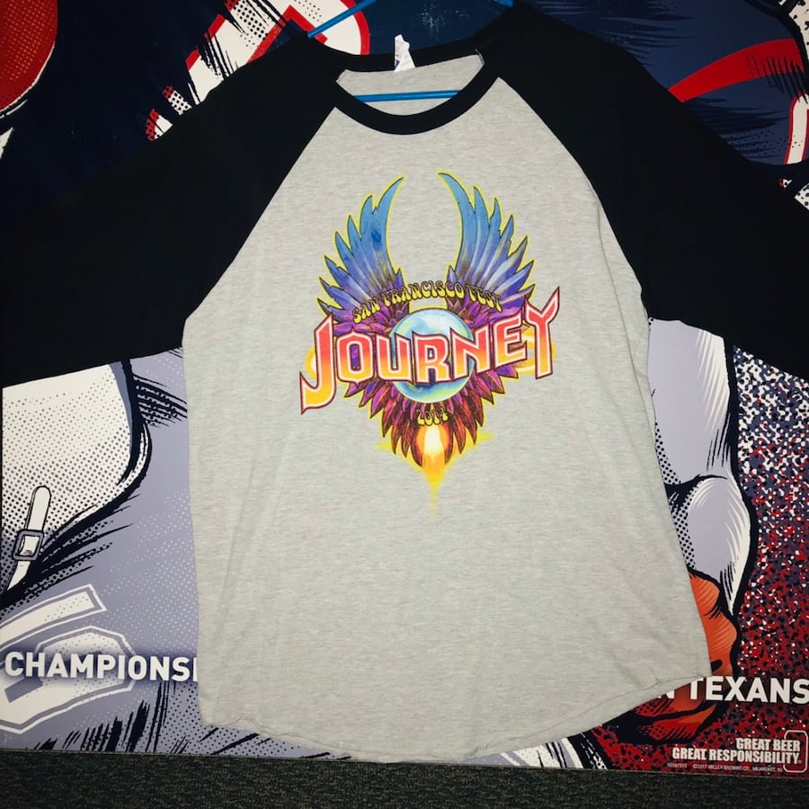 Journey 2014 Tour San Francisco Wings Logo Baseball Jersey.