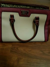 white and pink leather tote bag Abbotsford, V2T 5C9