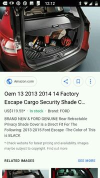 Cargo cover for ford escape Barrie, L4M 6G4
