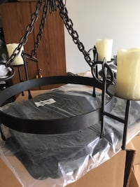 black cast iron pillar candle holder Tega Cay, 29708