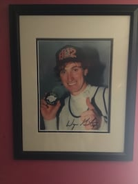 Wayne Gretzky signed photo with puck from record (authentic paperwork)