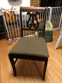 two brown wooden framed gray padded chairs Milwaukie, 97222