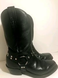 Leather Biker Boots, made in Van ???? Vancouver, V5M 1Z8
