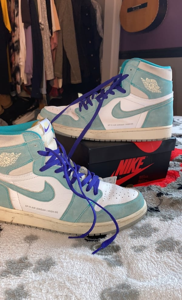 Jordan 1 Retro High Og Turbo Green Vendido En Edison Letgo