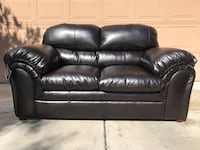 1 Black leather love seat Tucson, 85745
