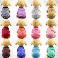 assorted color of Dog Clothes .