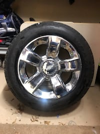 "1-set of 4 Rims/ tires for a 20"" Like new low miles.   Priced to sell Belleville, 07109"