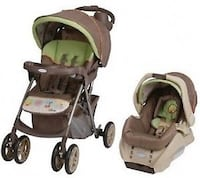 baby's brown and green travel system Montréal, H4L 0A5