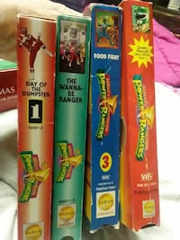 4 USED POWER RANGERS VHS $5.00