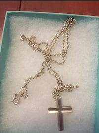 Tiffany & Co sterling sliver necklace with cross pendant Edmonton, T5G 2R1