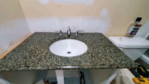 Granite Countertop With Faucet For