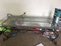 rectangular clear glass top coffee table Las Cruces, 88005