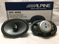 black and gray Alpine subwoofer Brooklyn, 11220