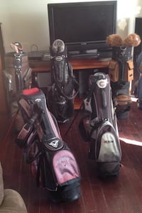 Black and red golf bag with golf clubs Edmonton, T6K
