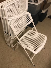 Folding Chair, White, set of 4. 亚历山德里亚, 22305