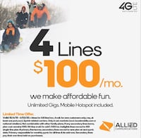 4 lines for $100 South Boston, 24592