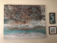 """40""""x50"""" Pier One abstract painting like new  Indianapolis, 46239"""