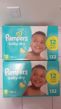 2 Brand new pampers Baby dry size 5 132 count  Mississauga