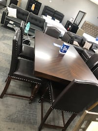 Rectangular table in brown 7pc Houston, 77092