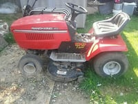 red and black Murray ride on mower Zion, 60099