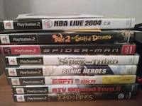 Ps2 cords and 10 games