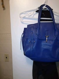 blue leather 2-way handbag Winnipeg, R2W