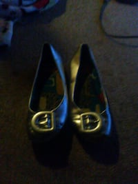 pair of grey leather close-toe flats Columbus, 43223