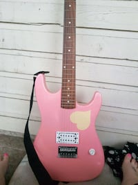 pink and white electric guitar Calgary, T1Y 1V3