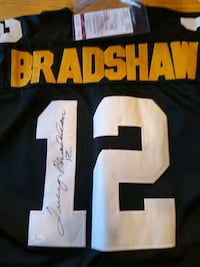 Jersey Terry Bradshaw Autograph and Authenticated. Westminster, 21157