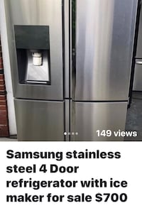 4-Door Samsung Stainless Refrigerator $700 obo  Dearborn Heights, 48127