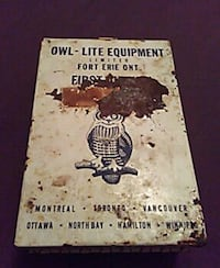 Antique canadian military first aid kit