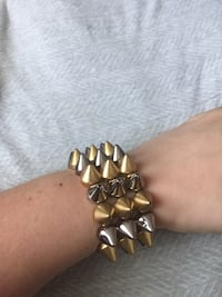 Silver and gold stud bracelet New York, 11226