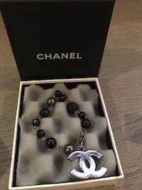 Authentic Chanel Black Beaded Bracelet Puslinch, N1H