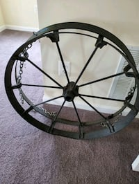 Wrought Iron Wheel/Cooking Rack Olney