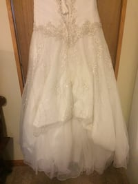White and beige floral chiffon wedding dress Westminster, 21157