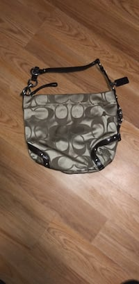 black and gray Coach monogram hobo bag Hamden, 06514