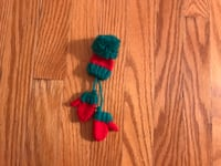 Cute Hand Knitted Christmas Brooch