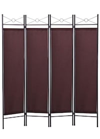 3.0 out of 5 stars  12 Reviews LAZYMOON 4-Panel Steel Room Divider Screen Fabric Folding Partition Home Office Privacy Screen, Escpresso Brown Los Angeles, 90025