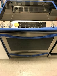 Electric stove slide in frigidaire gallery stainless steel