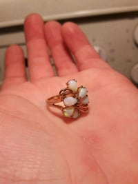 18k gold filled ring with Ethiopian opal Edmonton, T5G 2J2