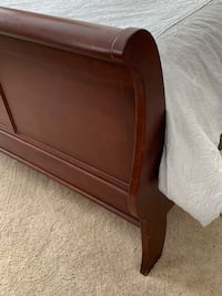 brown wooden bed headboard and footboard Fort Worth, 76244