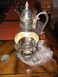clear glass pitcher with silver frame Reisterstown, 21136