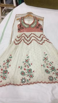 white and red floral sleeveless dress Ajmer, 305004