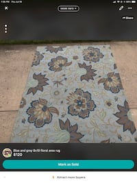 Area rug 8x10  grey /blue floral Purcellville, 20132