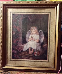 Angel with Butterfly Framed & Matted Art Print Beaverton, 97078
